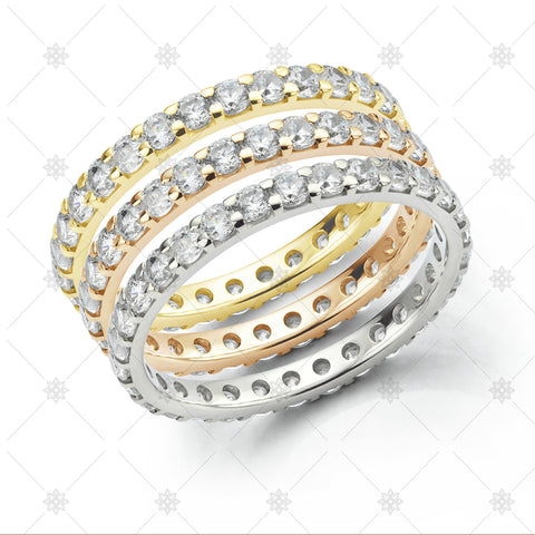 Stacked Eternity Ring Set - JG4017