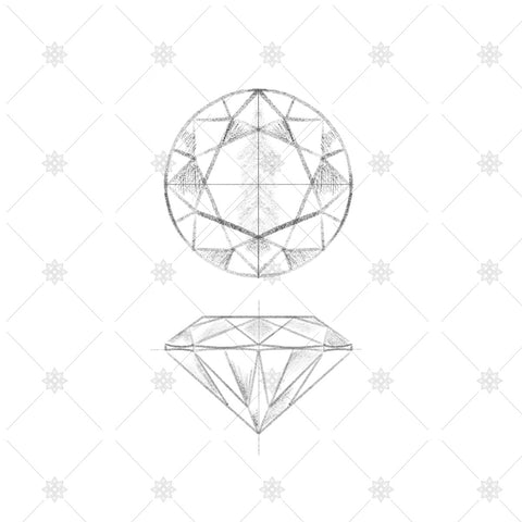 Round Brilliant Cut Diamond Sketch - JG4037