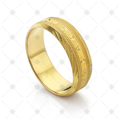 22CT Gold Ornate Wedding Ring- JG4067