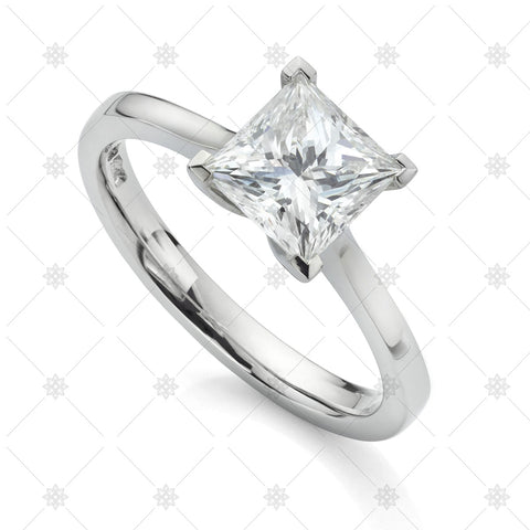 Princess Solitaire Diamond Ring - JG4075