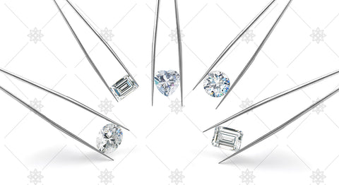 Multiple diamond stones with tweezers - JG4079
