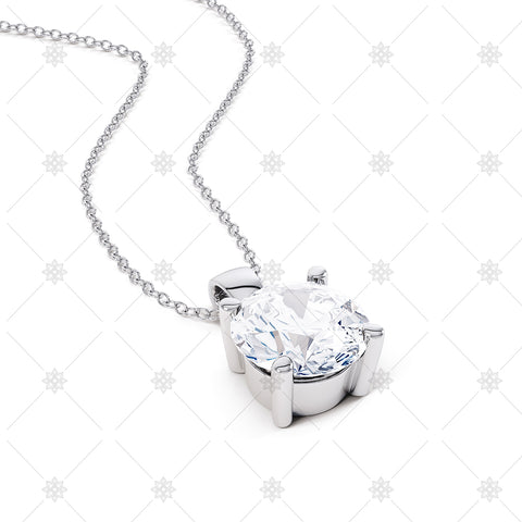 Diamond Solitaire Pendant - JG4086