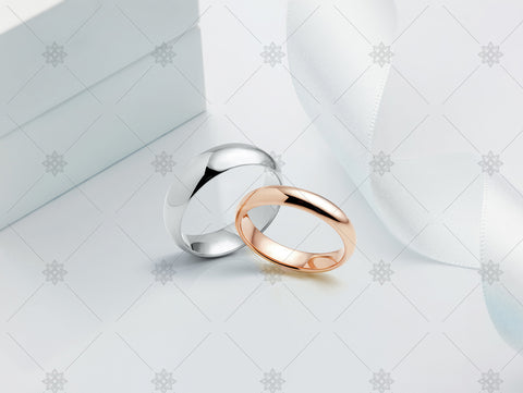 Plain Wedding Bands with Ribbon - JG4093