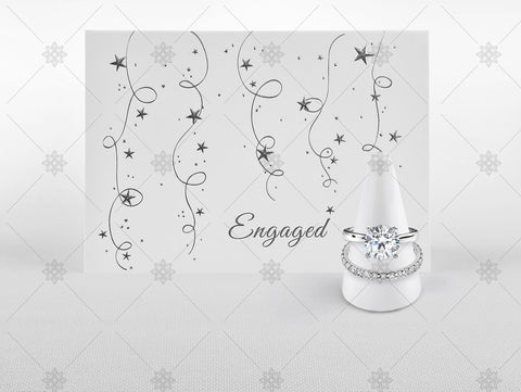 Engagement Card and Diamond Rings - JG4096B