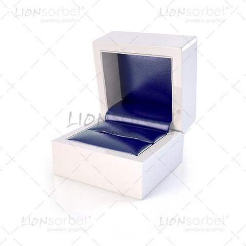 Image of blue ring box, jewellery packaging images