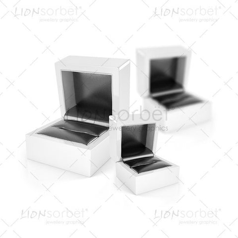 Image of 3 jewellery boxes without rings