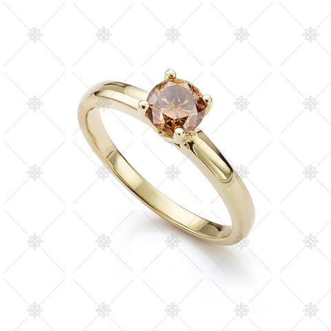 Chocolate Diamond Solitaire Ring - LS1009