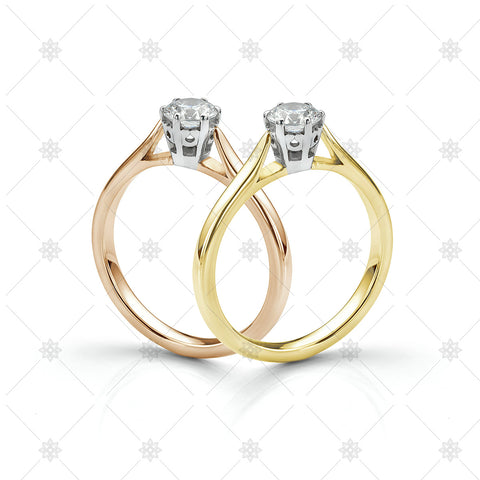 18ct Gold Solitaire Diamond Rings - LS1010