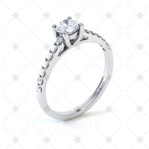 Diamond Semi Set Solitaire - LS1020