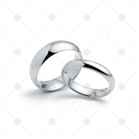 Platinum Wedding Rings - MJ1049