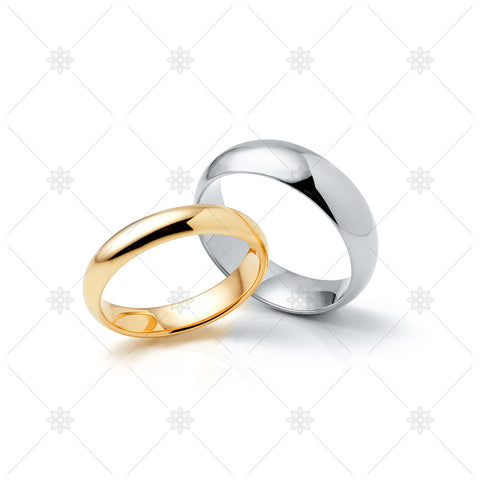 White & Yellow Gold Wedding Rings - MJ1049