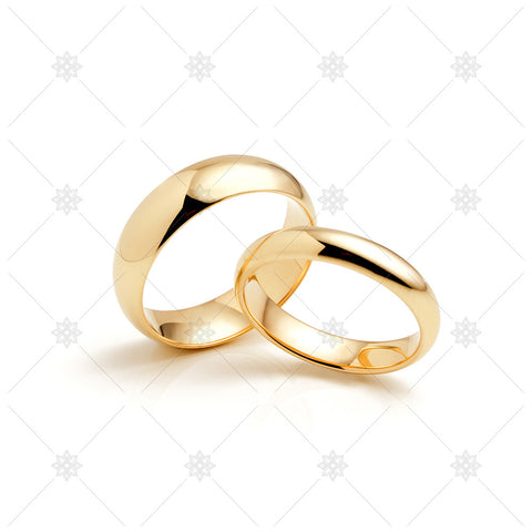 Yellow Gold Wedding Rings - MJ1049