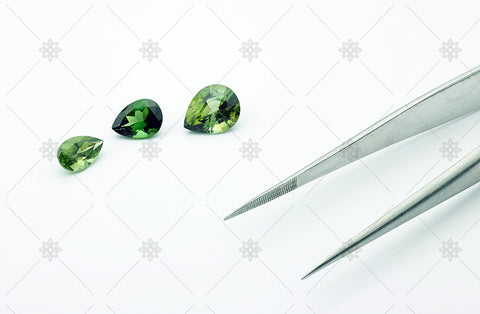 Pear cut green tourmalines - MJ1060