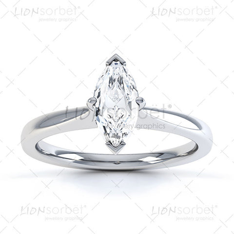 Marquise Diamond Ring image - Royalty Free  Images