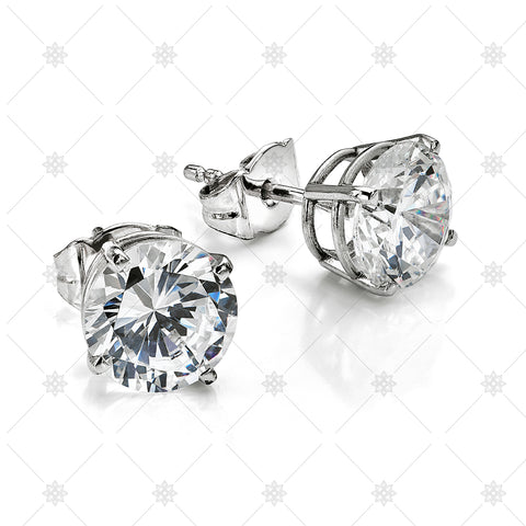 Large Diamond Stud Earrings - NE1002
