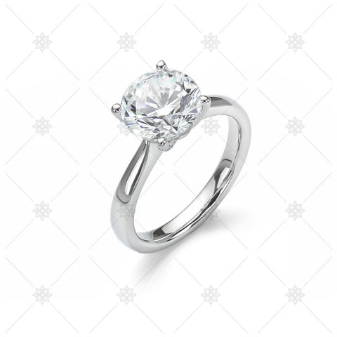 Large Solitaire Diamond Ring - NE1003