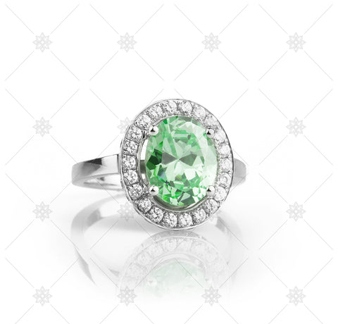Big Green Halo Ring - NE1015