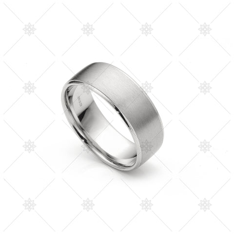 Mens Satin Wedding Ring 8mm - NE1018