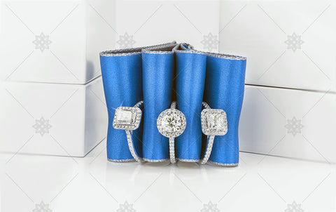 Blue Ribbon Engagement Rings  - NE1019A