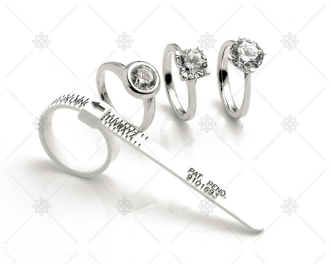 Diamond Rings and Finger Sizer  - NE1022B
