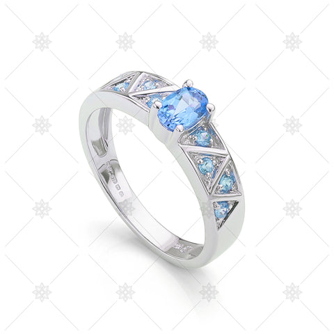 Blue Topaz Cherished Ring  - NE1025B