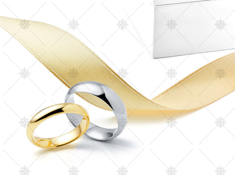Wedding Rings Ribbon box - NE1037a