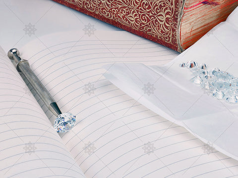 Ornate Bookspine and Diamonds - MJ1026