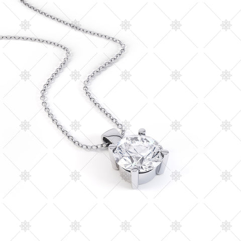 Diamond Pendant Image in White Gold - P003