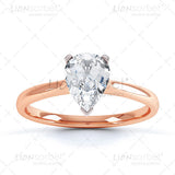 Pear 3 Claw Diamond Ring Image Pack - 3006_3CPW