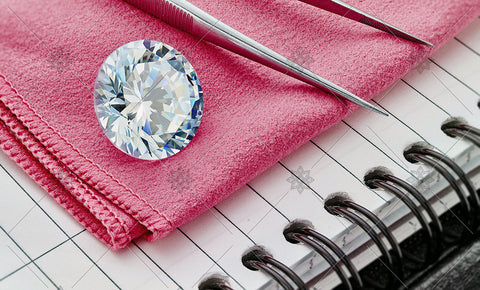 Round Diamond on Pink cloth  - MJ1047