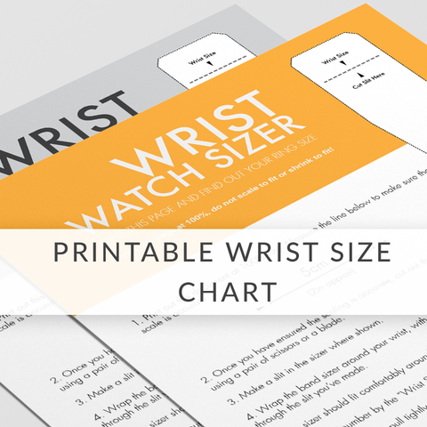 Printable Wrist Size Measurement - ED1011