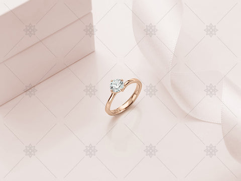Rose Gold Diamond Ring - Studio Shot - MJ1020