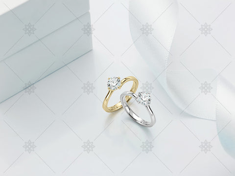 Diamond Rings - White Ribbon - MJ1018