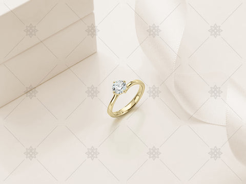 Yellow Gold Diamond Ring - Studio Shot - MJ1019
