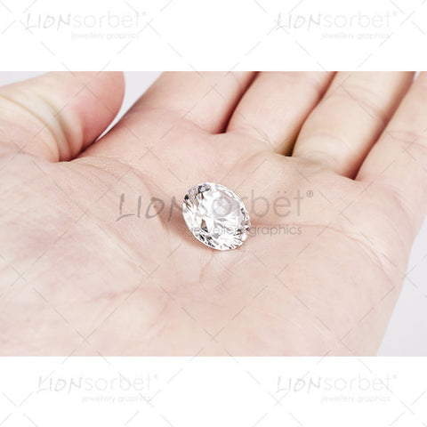 large diamond in hand