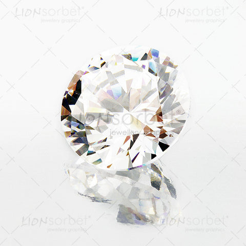 Diamond with reflection