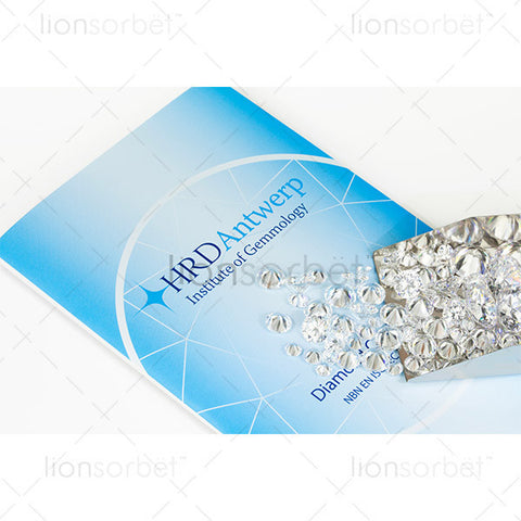 HRD Certificate scoop of diamonds