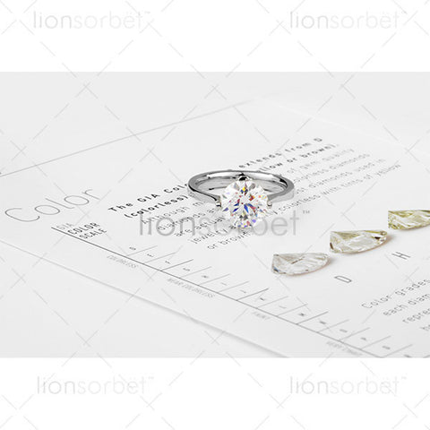 Diamond Ring and colour chart