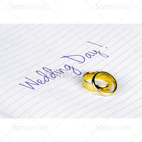 wedding rings wedding day