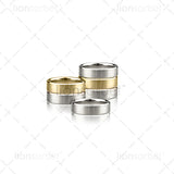 Satin Wedding Ring Pack - RT1110