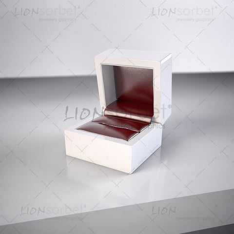 Red jewellery ring box on dark background