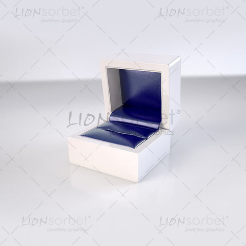jewellery ring box on light grey background