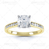 Round White Semi Set Engagement Ring Image