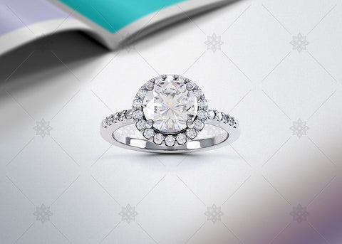 Diamond Halo Ring Studio - SD1001