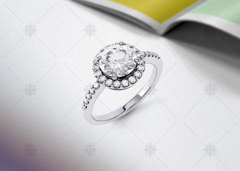 Diamond Halo Ring Studio - SD1002