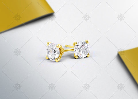 Stud Earrings Studio Yellow Gold - SD1003