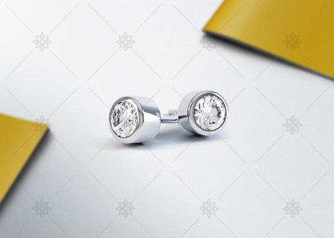 Round Stud Earrings light Studio - SD1004