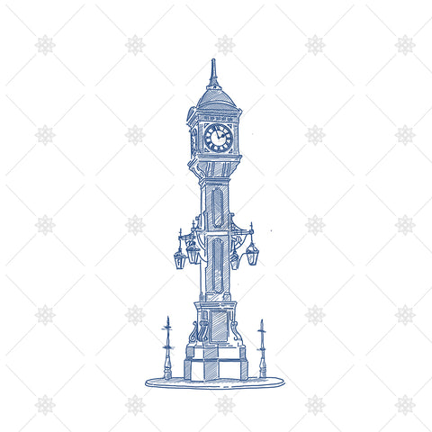 Clock Tower Sketch Birmingham Jewellery Quarter - SK1044