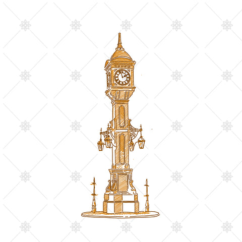 Chamberlain Clock Tower Sketch Birmingham - SK1045