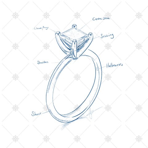 jewellery drawing and ring sketch